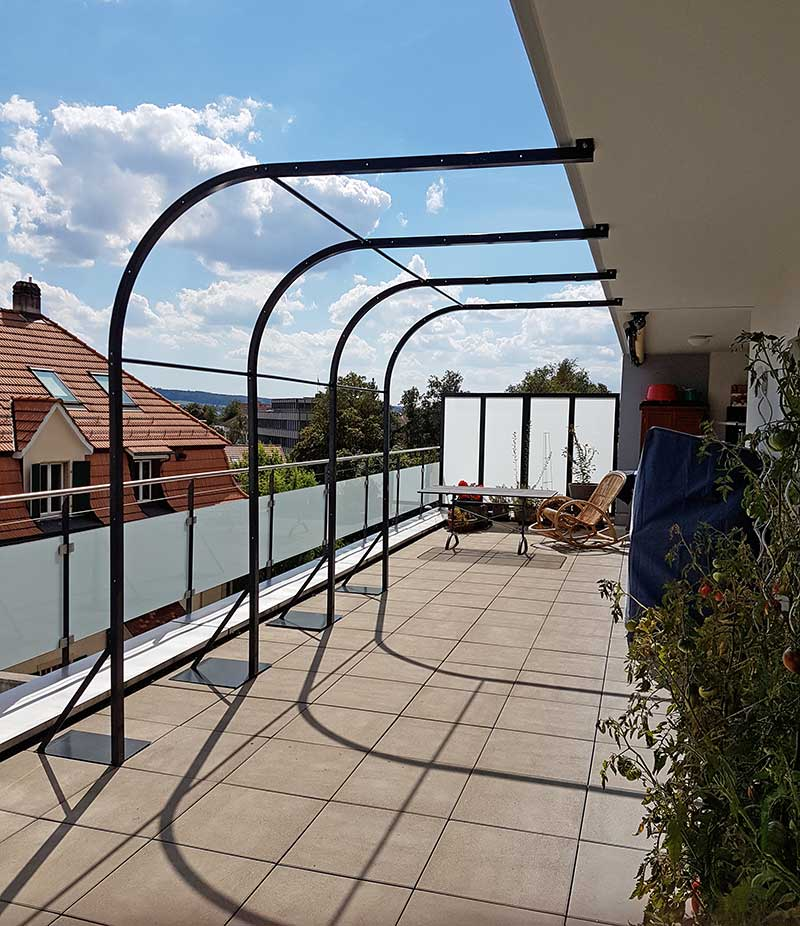 Extrem Pergola aus Metall für Garten, Balkon oder Terrasse von Staub NI71