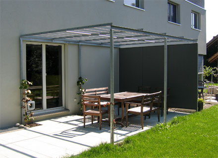 pergola aus metall f r garten balkon oder terrasse von. Black Bedroom Furniture Sets. Home Design Ideas